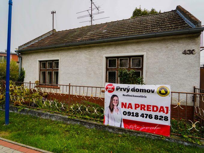 Dom Špačince Prvý domov Petra Jasovská realitná kancelária Trnava predaj pozemok
